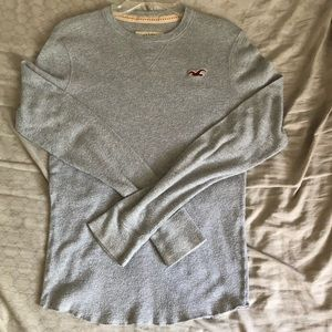 Hollister gray long sleeve thermal men's small